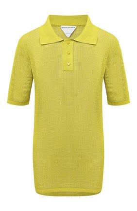 Женское поло BOTTEGA VENETA желтого цвета, арт. 647177/V0BN0   Фото 1