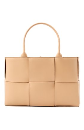 Женская сумка arco tote BOTTEGA VENETA бежевого цвета, арт. 609175/VMAY5   Фото 1