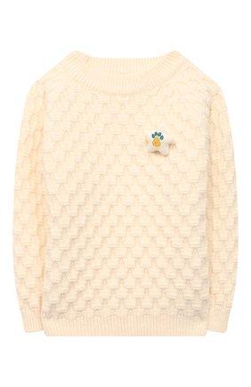 Детский пуловер ZHANNA & ANNA белого цвета, арт. ZAW03112020 | Фото 1
