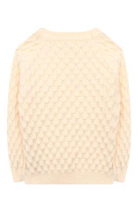 Детский пуловер ZHANNA & ANNA белого цвета, арт. ZAW03112020 | Фото 2
