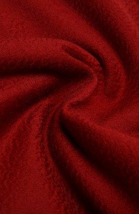 Кашемировый плед LORO PIANA красного цвета, арт. FAA1158 | Фото 2