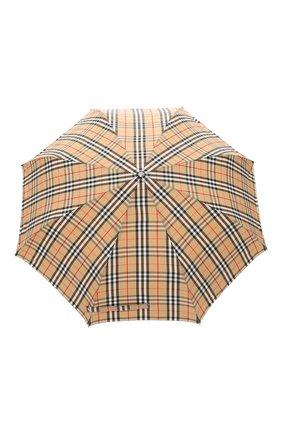 Мужской складной зонт BURBERRY бежевого цвета, арт. 8024782 | Фото 1