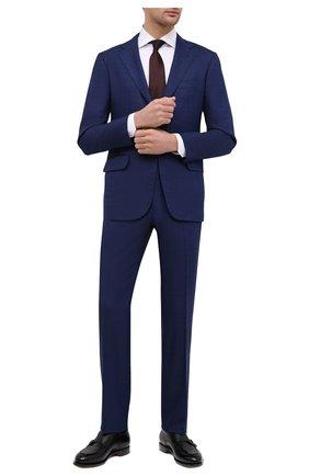 Мужской шерстяной костюм KITON темно-синего цвета, арт. UA81K01X57 | Фото 1 (Материал внешний: Шерсть; Костюмы М: Однобортный; Рукава: Длинные; Материал подклада: Купро; Стили: Классический)