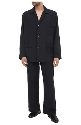 Мужского кожаные домашние туфли FARFALLA черного цвета, арт. G13 | Фото 2 (Материал внутренний: Натуральная кожа; Мужское Кросс-КТ: тапочки-обувь)