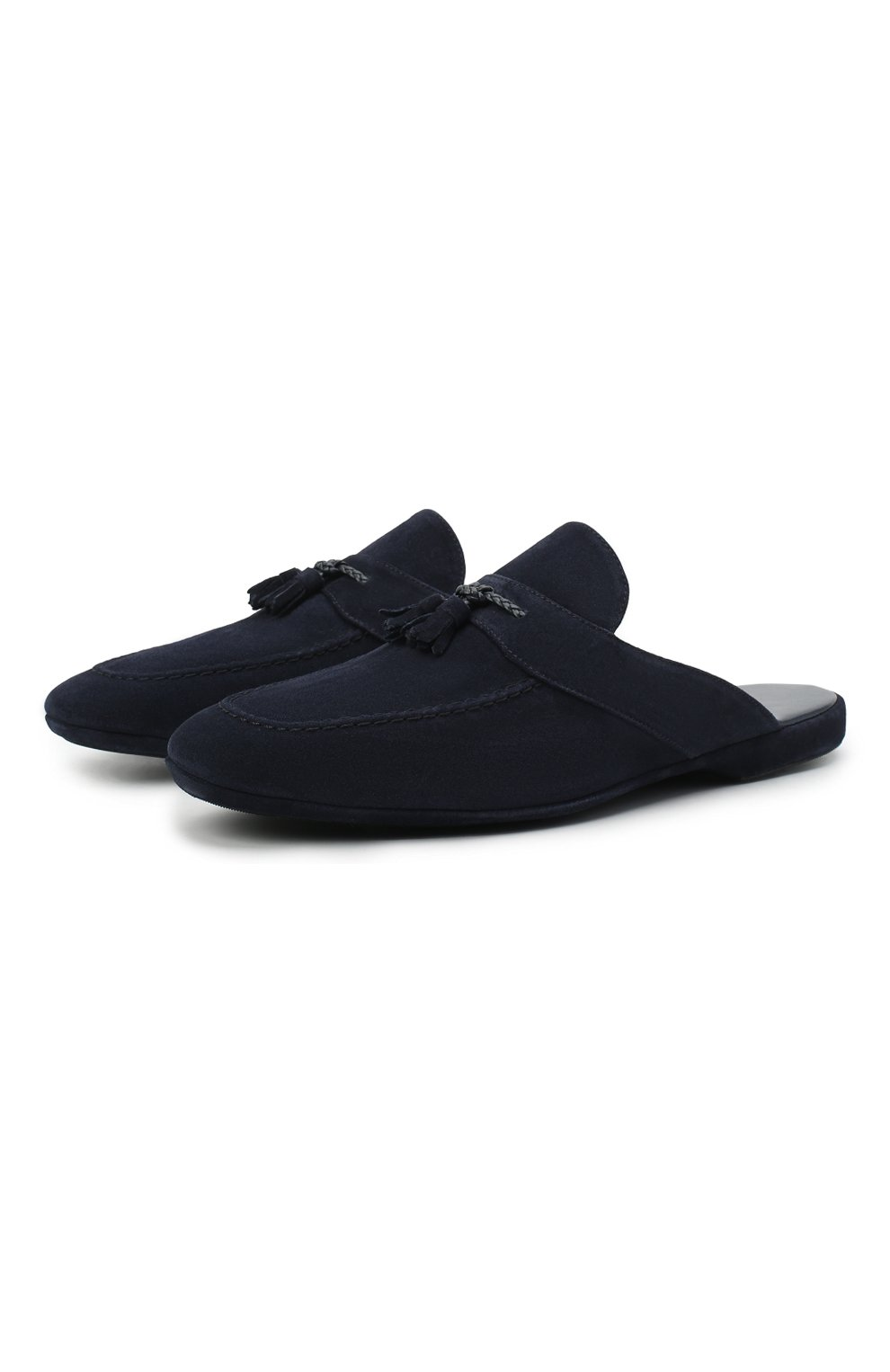 Мужского замшевые домашние туфли FARFALLA синего цвета, арт. G2NT   Фото 1 (Материал внутренний: Натуральная кожа; Материал внешний: Замша; Мужское Кросс-КТ: тапочки-обувь)