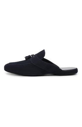 Мужского замшевые домашние туфли FARFALLA синего цвета, арт. G2NT   Фото 3 (Материал внутренний: Натуральная кожа; Материал внешний: Замша; Мужское Кросс-КТ: тапочки-обувь)