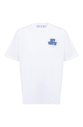 Мужская хлопковая футболка OFF-WHITE белого цвета, арт. 0MAA038R21JER004 | Фото 1