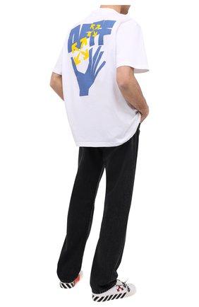 Мужская хлопковая футболка OFF-WHITE белого цвета, арт. 0MAA038R21JER004 | Фото 2