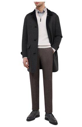 Мужские кожаные ботинки BRIONI серого цвета, арт. QQC30L/09712 | Фото 2