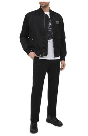 Мужские кожаные кеды BALMAIN черного цвета, арт. VM1C244/LSMM | Фото 2