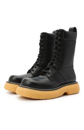 Мужские кожаные ботинки bounce BOTTEGA VENETA черного цвета, арт. 651260/V00H0 | Фото 1 (Каблук высота: Высокий; Материал внутренний: Натуральная кожа; Мужское Кросс-КТ: Ботинки-обувь; Подошва: Массивная)
