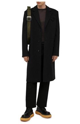 Мужские кожаные ботинки bounce BOTTEGA VENETA черного цвета, арт. 651260/V00H0 | Фото 2 (Каблук высота: Высокий; Материал внутренний: Натуральная кожа; Мужское Кросс-КТ: Ботинки-обувь; Подошва: Массивная)