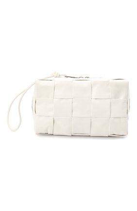 Мужской кожаный несессер BOTTEGA VENETA белого цвета, арт. 649993/VCQ72 | Фото 1