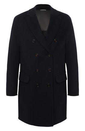 Мужской пальто из шерсти викуньи BRUNELLO CUCINELLI темно-синего цвета, арт. MP4659929/VVIC | Фото 1 (Стили: Классический; Материал внешний: Шерсть; Рукава: Длинные; Мужское Кросс-КТ: пальто-верхняя одежда; Длина (верхняя одежда): До середины бедра)