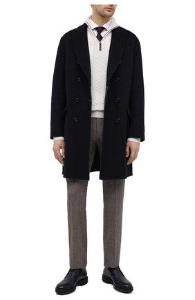Мужской пальто из шерсти викуньи BRUNELLO CUCINELLI темно-синего цвета, арт. MP4659929/VVIC | Фото 2 (Стили: Классический; Материал внешний: Шерсть; Рукава: Длинные; Мужское Кросс-КТ: пальто-верхняя одежда; Длина (верхняя одежда): До середины бедра)