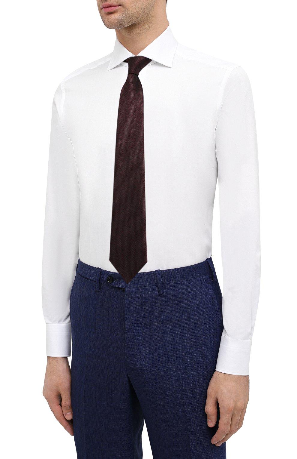 Мужская хлопковая сорочка ERMENEGILDO ZEGNA белого цвета, арт. 0T10319MS0BA | Фото 4 (Рукава: Длинные; Рубашки М: Regular Fit; Длина (для топов): Стандартные; Материал внешний: Хлопок; Стили: Классический; Случай: Формальный)