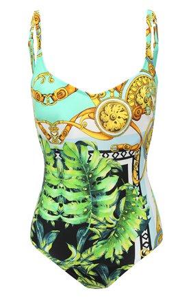 Женский слитный купальник FURSTENBERG зеленого цвета, арт. BA 151/38155 | Фото 1