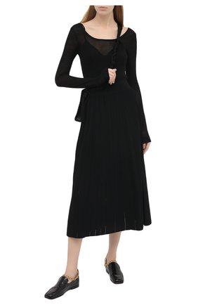 Женский шерстяной пуловер NANUSHKA черного цвета, арт. BETH_BLACK_EXTRA FINE MERIN0 KNIT | Фото 2