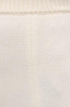 Женские шерстяные шорты DOLCE & GABBANA белого цвета, арт. FXA91T/JAV42   Фото 5 (Женское Кросс-КТ: Шорты-одежда; Материал внешний: Шерсть; Длина Ж (юбки, платья, шорты): Мини; Стили: Кэжуэл)