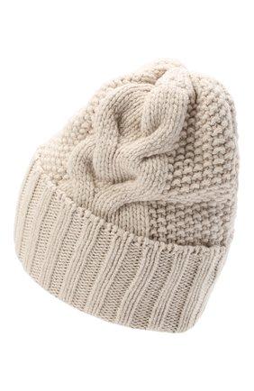 Женская шапка BILANCIONI светло-бежевого цвета, арт. 5153CM | Фото 2