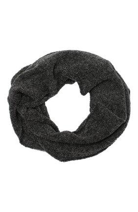 Женский шерстяной шарф BILANCIONI темно-серого цвета, арт. 5134SM | Фото 1