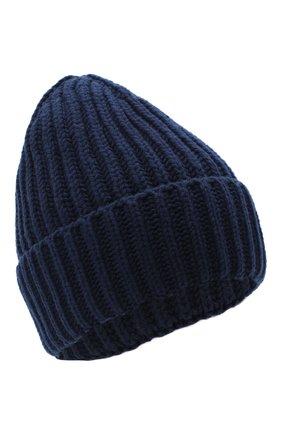 Женская шерстяная шапка BILANCIONI темно-синего цвета, арт. 5120CM | Фото 1