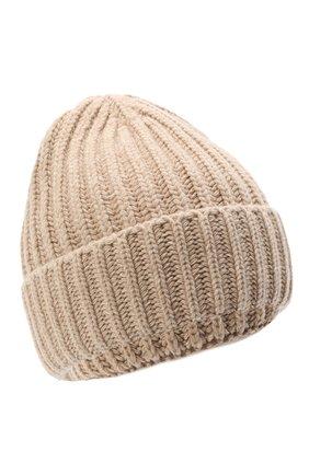 Женская шерстяная шапка BILANCIONI светло-бежевого цвета, арт. 5120CM | Фото 1