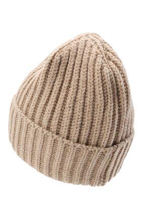 Женская шерстяная шапка BILANCIONI светло-бежевого цвета, арт. 5120CM | Фото 2