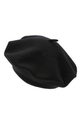 Женский шерстяной берет BILANCIONI черного цвета, арт. 4916CM | Фото 2
