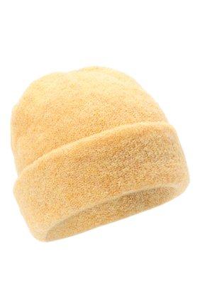 Женская шерстяная шапка BILANCIONI желтого цвета, арт. 4915CM   Фото 1