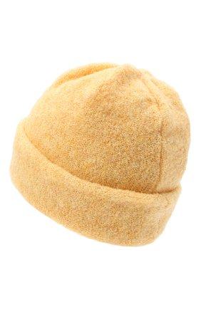 Женская шерстяная шапка BILANCIONI желтого цвета, арт. 4915CM   Фото 2