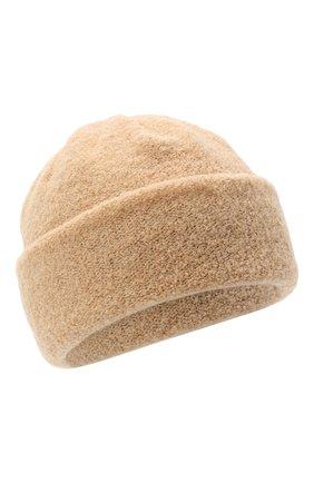 Женская шерстяная шапка BILANCIONI светло-бежевого цвета, арт. 4915CM   Фото 1