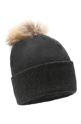 Женская шапка BILANCIONI темно-серого цвета, арт. 4914CM   Фото 1
