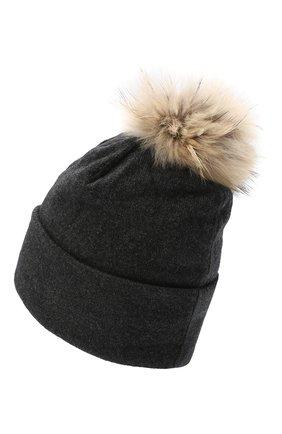 Женская шапка BILANCIONI темно-серого цвета, арт. 4914CM   Фото 2