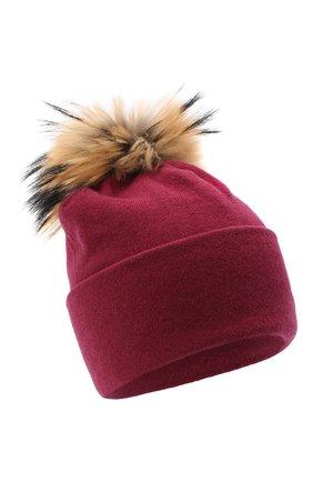 Женская шапка BILANCIONI бордового цвета, арт. 4914CM   Фото 1