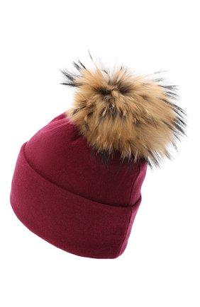 Женская шапка BILANCIONI бордового цвета, арт. 4914CM   Фото 2