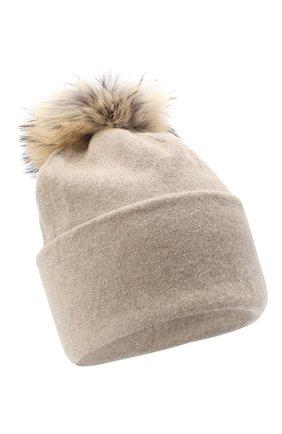 Женская шапка BILANCIONI светло-бежевого цвета, арт. 4914CM   Фото 1