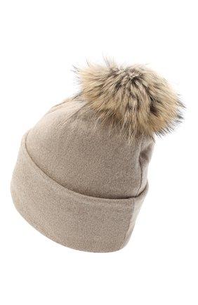 Женская шапка BILANCIONI светло-бежевого цвета, арт. 4914CM   Фото 2