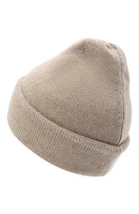 Женская шапка BILANCIONI светло-бежевого цвета, арт. 4911CM   Фото 2