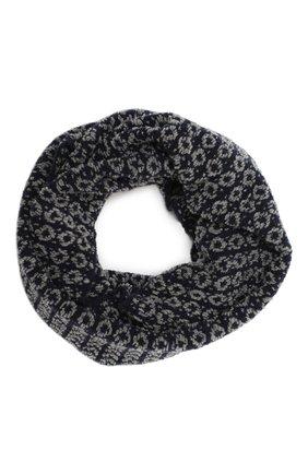Женский шарф-снуд BILANCIONI синего цвета, арт. 4910SM   Фото 1