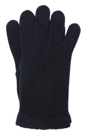 Женские перчатки BILANCIONI темно-синего цвета, арт. 4908GU   Фото 1