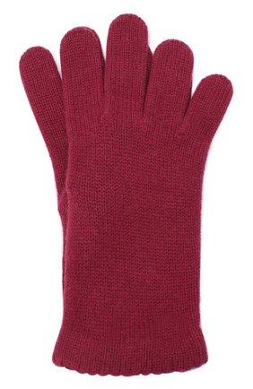 Женские перчатки BILANCIONI бордового цвета, арт. 4908GU   Фото 1