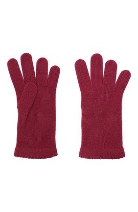 Женские перчатки BILANCIONI бордового цвета, арт. 4908GU   Фото 2