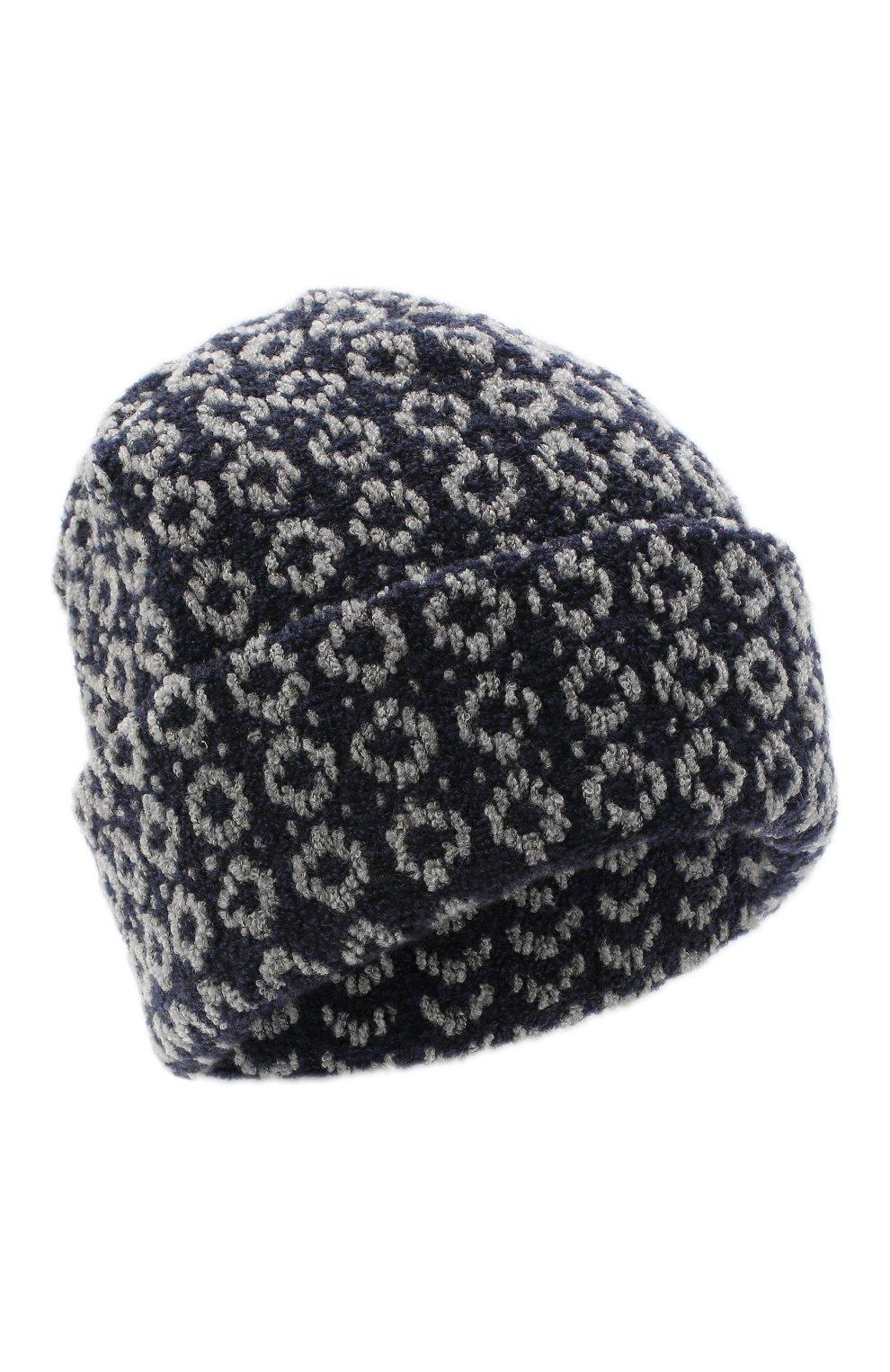 Женская шерстяная шапка BILANCIONI синего цвета, арт. 4907CM   Фото 1 (Материал: Шерсть)