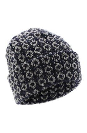 Женская шерстяная шапка BILANCIONI синего цвета, арт. 4907CM   Фото 1