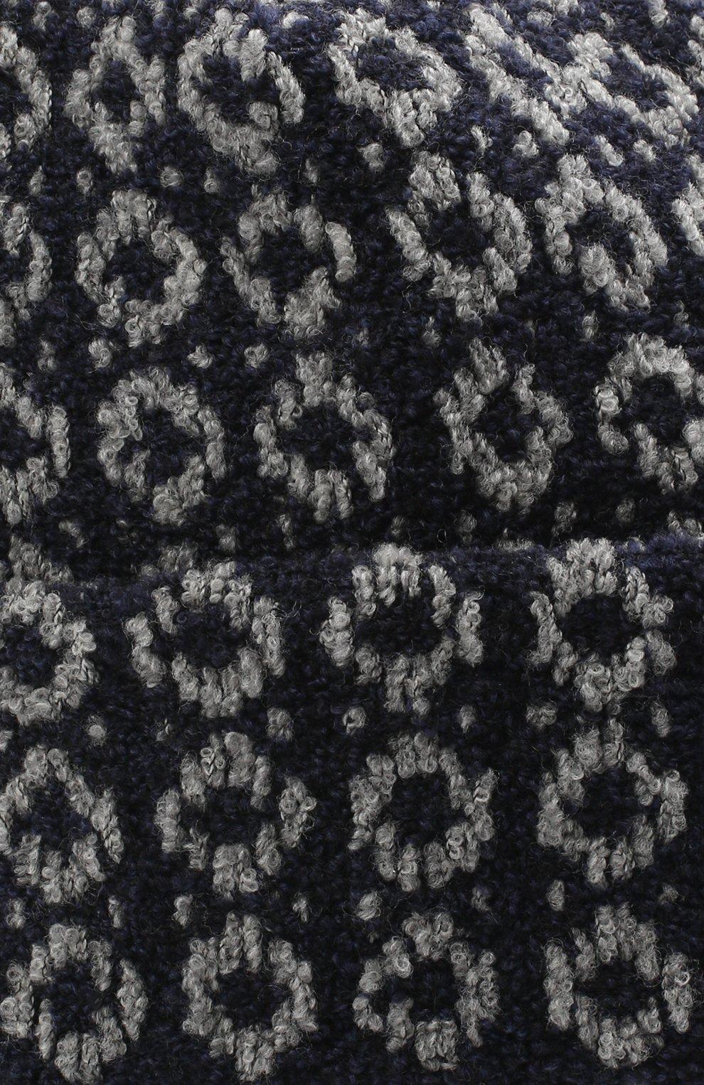Женская шерстяная шапка BILANCIONI синего цвета, арт. 4907CM   Фото 3 (Материал: Шерсть)