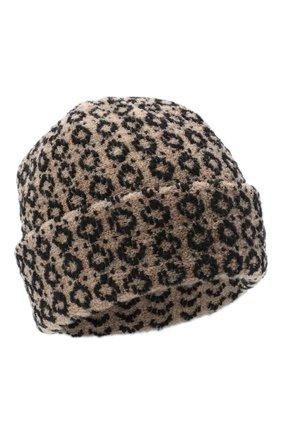 Женская шерстяная шапка BILANCIONI бежевого цвета, арт. 4907CM | Фото 1 (Материал: Шерсть)