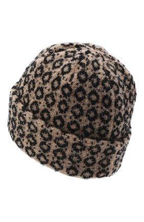 Женская шерстяная шапка BILANCIONI бежевого цвета, арт. 4907CM | Фото 2 (Материал: Шерсть)