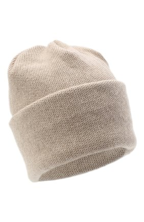 Женская шапка BILANCIONI светло-бежевого цвета, арт. 4906CM | Фото 1 (Материал: Текстиль, Шерсть, Вискоза)
