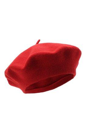 Женский шерстяной берет BILANCIONI красного цвета, арт. 4905CM | Фото 1